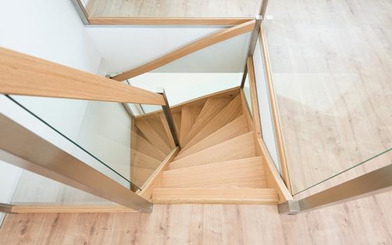 Pose escalier bois Dieppe